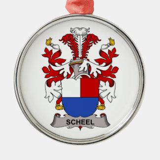 Escudo de la familia de Scheel Adorno Navideño Redondo De Metal