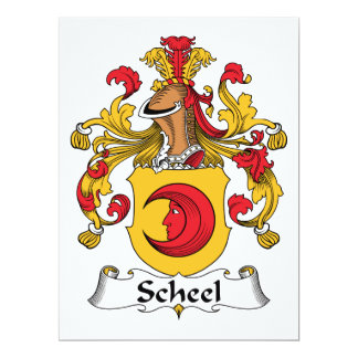 """Escudo de la familia de Scheel Invitación 6.5"""" X 8.75"""""""