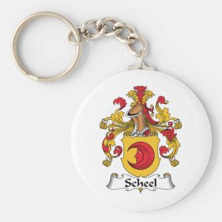 Escudo de la familia de Scheel Llavero Redondo Tipo Pin
