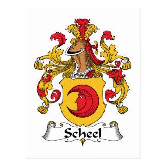 Escudo de la familia de Scheel Postal