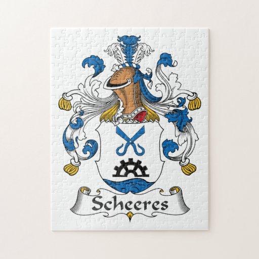 Escudo de la familia de Scheeres Rompecabeza Con Fotos