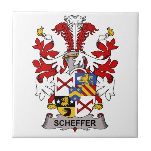 Escudo de la familia de Scheffer Azulejo