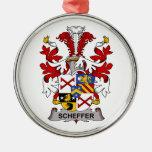 Escudo de la familia de Scheffer Ornamento De Navidad