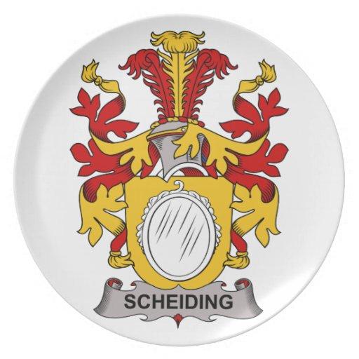 Escudo de la familia de Scheiding Plato De Cena