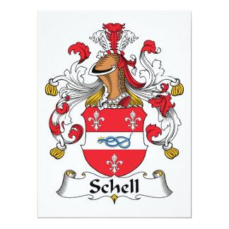 """Escudo de la familia de Schell Invitación 6.5"""" X 8.75"""""""