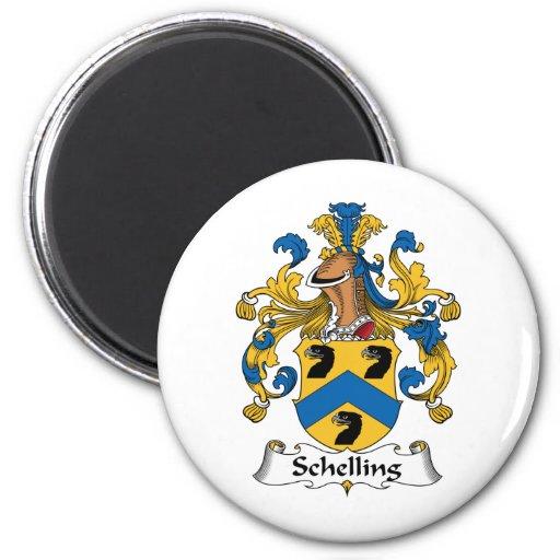 Escudo de la familia de Schelling Imán Redondo 5 Cm