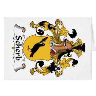 Escudo de la familia de Scherb Felicitaciones