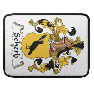 Escudo de la familia de Scherb Fundas Macbook Pro