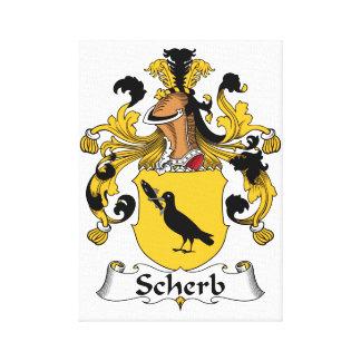 Escudo de la familia de Scherb Impresión En Lona