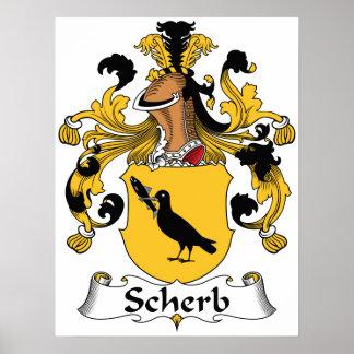 Escudo de la familia de Scherb Impresiones