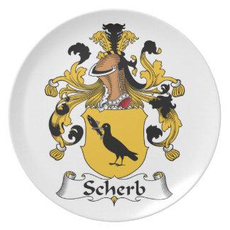 Escudo de la familia de Scherb Platos Para Fiestas