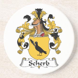 Escudo de la familia de Scherb Posavasos Personalizados