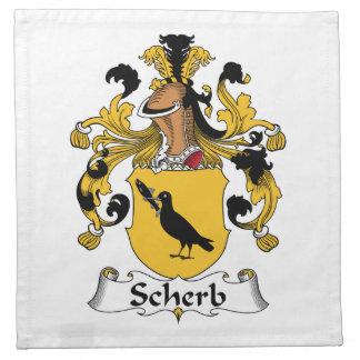 Escudo de la familia de Scherb Servilleta Imprimida