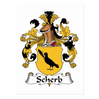 Escudo de la familia de Scherb Tarjeta Postal