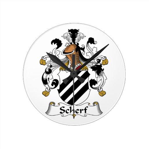 Escudo de la familia de Scherf Reloj Redondo Mediano