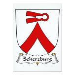 Escudo de la familia de Scherzburg Invitación 12,7 X 17,8 Cm