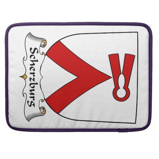 Escudo de la familia de Scherzburg Funda Macbook Pro