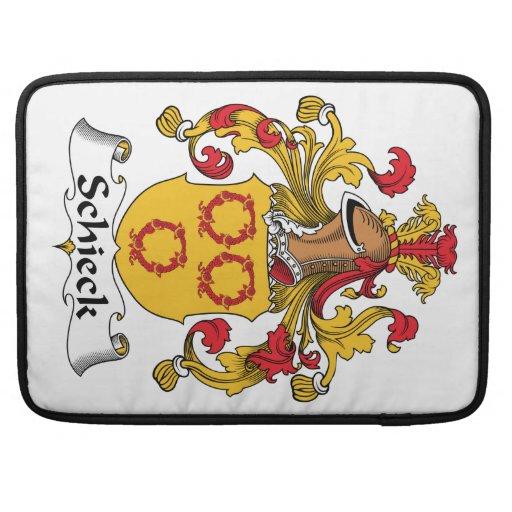 Escudo de la familia de Schieck Fundas Para Macbook Pro