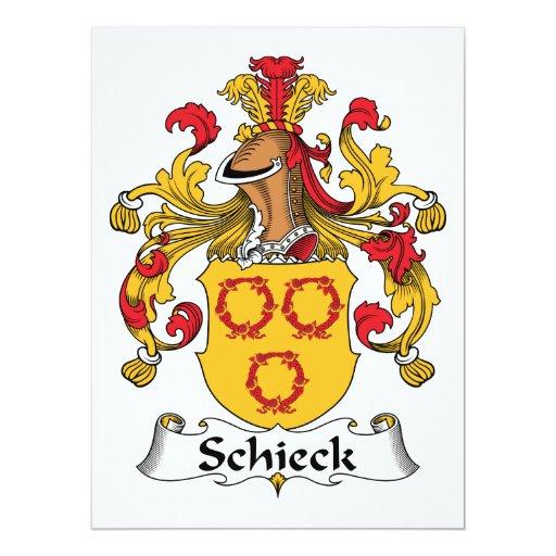 """Escudo de la familia de Schieck Invitación 6.5"""" X 8.75"""""""