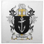 Escudo de la familia de Schippers Servilletas De Papel