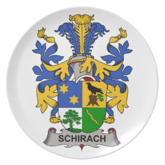 Escudo de la familia de Schirach Plato De Cena