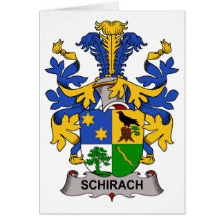 Escudo de la familia de Schirach Tarjeton