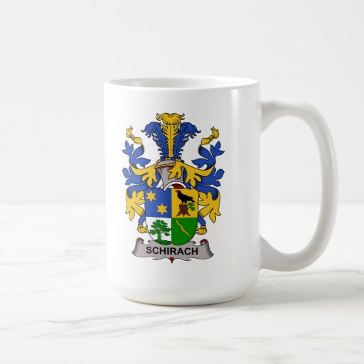 Escudo de la familia de Schirach Tazas De Café
