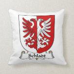 Escudo de la familia de Schladt Almohadas
