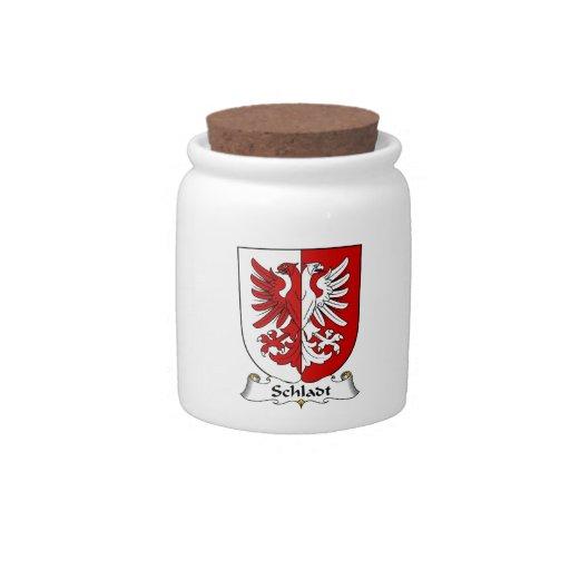 Escudo de la familia de Schladt Plato Para Caramelo