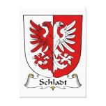 Escudo de la familia de Schladt Impresión En Lona