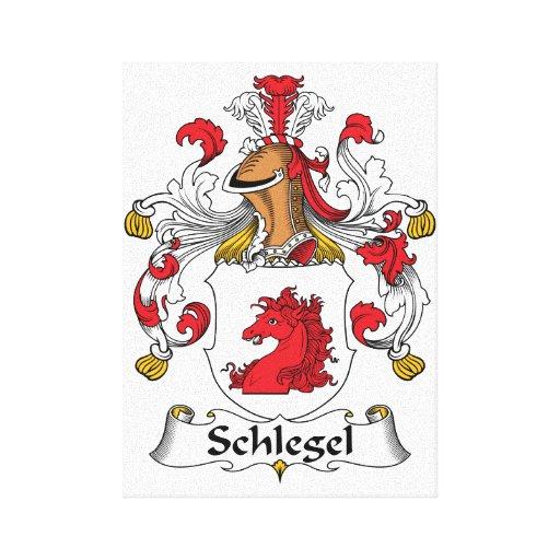 Escudo de la familia de Schlegel Impresión De Lienzo