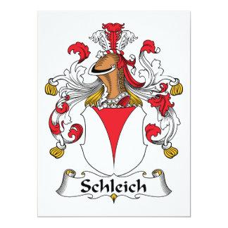 Escudo de la familia de Schleich Invitación Personalizada