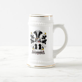 Escudo de la familia de Schleppegrell Tazas De Café