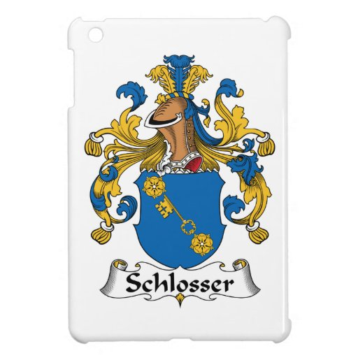 Escudo de la familia de Schlosser iPad Mini Cárcasas
