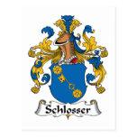Escudo de la familia de Schlosser Tarjeta Postal