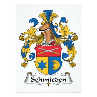 Escudo de la familia de Schmieden Invitación 16,5 X 22,2 Cm