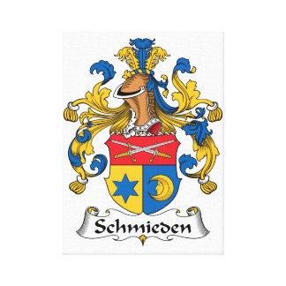 Escudo de la familia de Schmieden Lona Envuelta Para Galerías