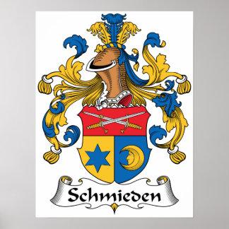 Escudo de la familia de Schmieden Impresiones