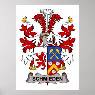 Escudo de la familia de Schmieden Poster