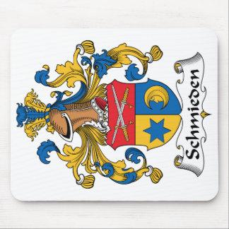 Escudo de la familia de Schmieden Alfombrillas De Ratón