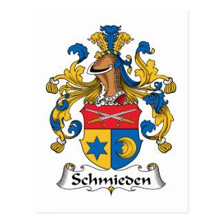 Escudo de la familia de Schmieden Tarjeta Postal