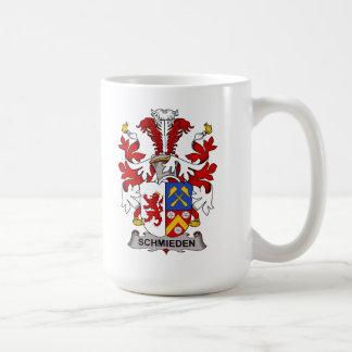 Escudo de la familia de Schmieden Tazas De Café