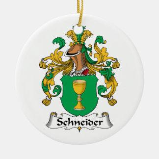 Escudo de la familia de Schneider Adorno Redondo De Cerámica