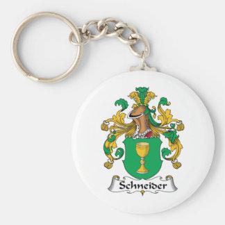 Escudo de la familia de Schneider Llavero Redondo Tipo Pin