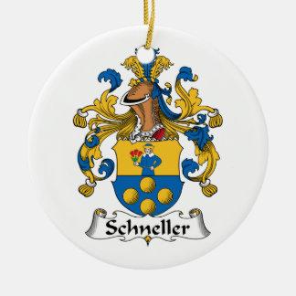 Escudo de la familia de Schneller Adorno Navideño Redondo De Cerámica