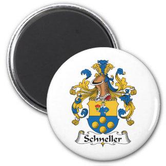Escudo de la familia de Schneller Imán Redondo 5 Cm
