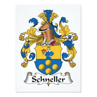 """Escudo de la familia de Schneller Invitación 6.5"""" X 8.75"""""""