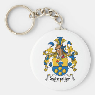 Escudo de la familia de Schneller Llavero Redondo Tipo Pin