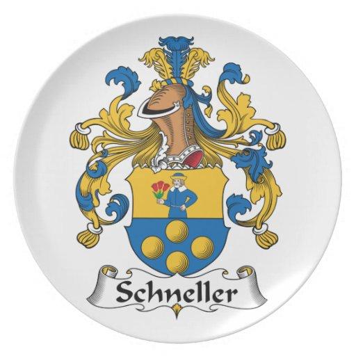 Escudo de la familia de Schneller Plato De Cena