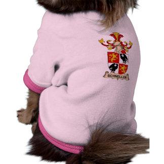 Escudo de la familia de Schneller Camisas De Perritos